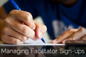 Managing Facilitator Sign-ups